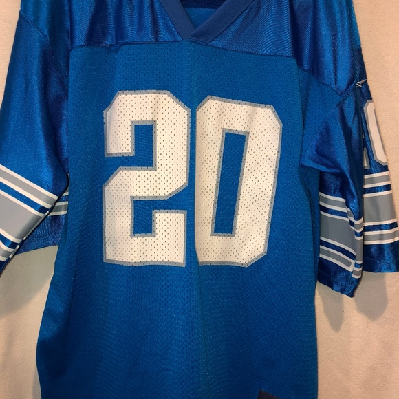 new arrival e4ad4 bbab5 Vintage Barry Sanders Reebok Lions Jersey